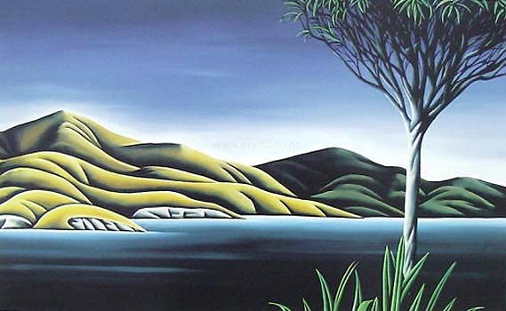Lone Lancewood by Diana Adams for Sale - New Zealand Art Prints