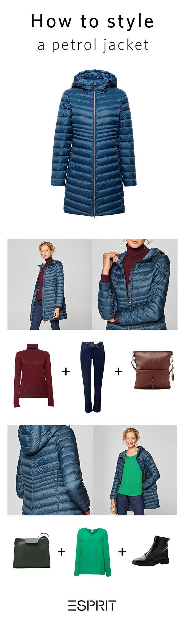 Esprit Outerwear Petrol Coat Outfit Coats For Women Clothes Favorite Outfit [ 2001 x 595 Pixel ]