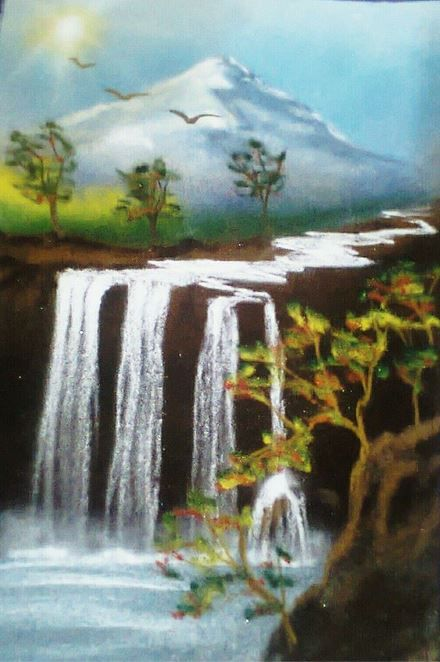 Scenic Rangoli Designs for Competition with Themes