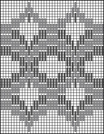 bargello stitches | Stitch Chart for Persian Bargello Needlepoint Medallions Decorative Stitch Pattern