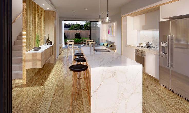 Townhouse Kitchen and Living on Behance