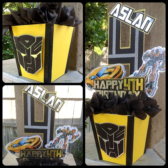 Transformers Centerpiece bumblebee by OohLalaCreation on Etsy