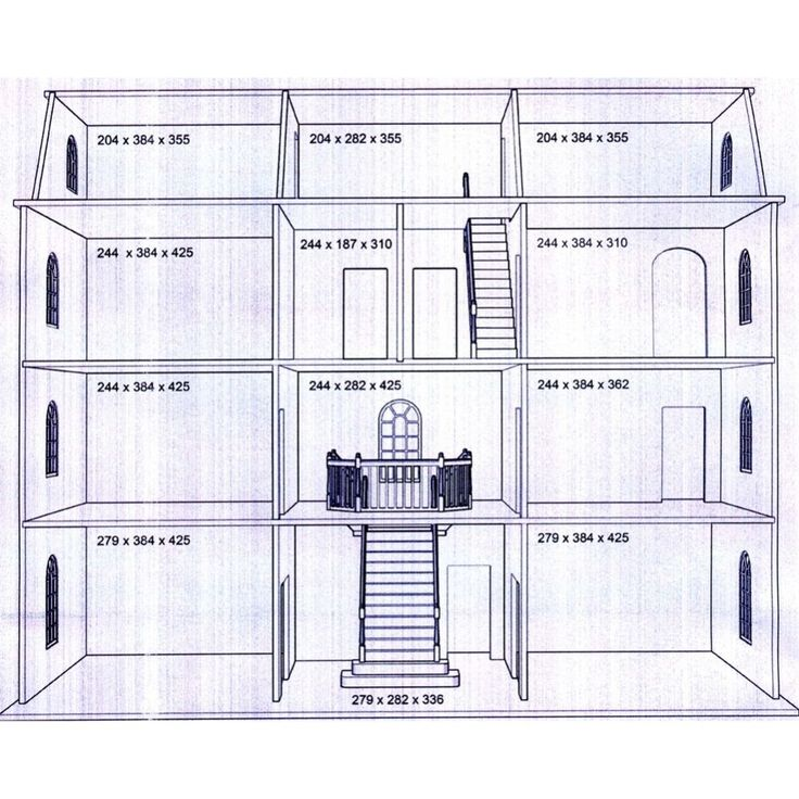 Diy Miniature Doll House Flat Packed Cardboard Kit Mini: Downton Manor Dolls House Kit *Latest Design