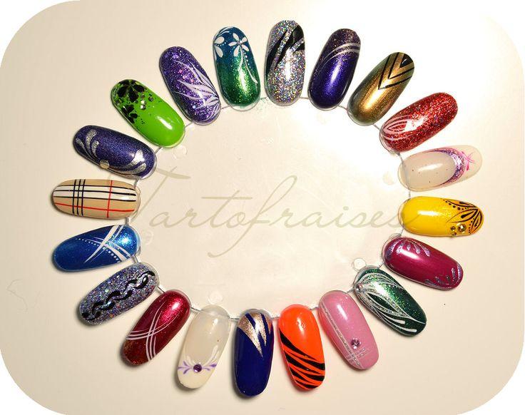Tartofraises nail art ideas (nail wheel)