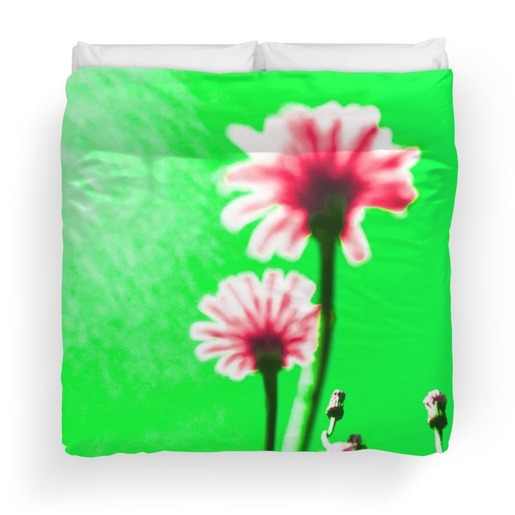 Two Dream Flowers - Green