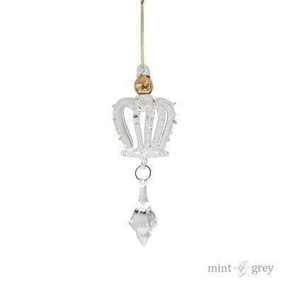 Bombka CROWN, Mint Grey