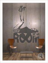 """Vinilo decorativo Flor4u®. Modelo """"Room 55"""" disponible en www.flor4u.com"""