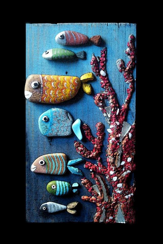 stone painting by Michela Bufalini (rock art)
