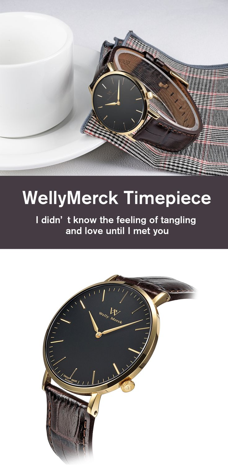 Every man should own at least one fashionable WellyMerck watch. Click here for more.