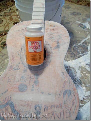 Rock Around the Clock: Repurposed Guitar Tutorial from Gail of My Repurposed Life | Handmade Spark