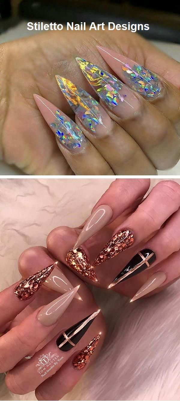 30 Great Stiletto Nail Art Design Ideas Nailart Stiletto Nail Art Stiletto Nails Designs Rainbow Nail Art Designs