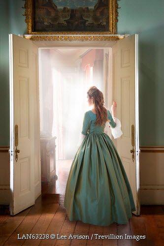 © Lee Avison / Trevillion Images - georgian-woman-beside-doorway-indoors