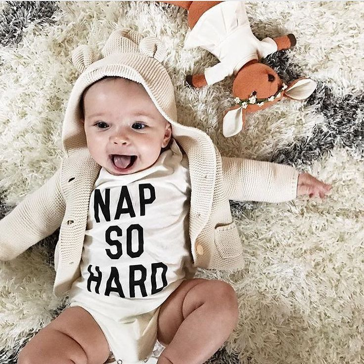 Looking so darn cute in her NAP SO HARD onesie!  @nikkihofmeister  spearmintLOVE.com