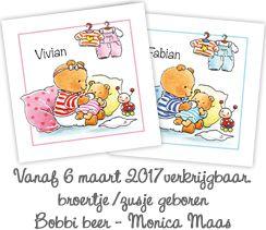 Nieuwe geboortekaartjes Monica Maas - Bobbi