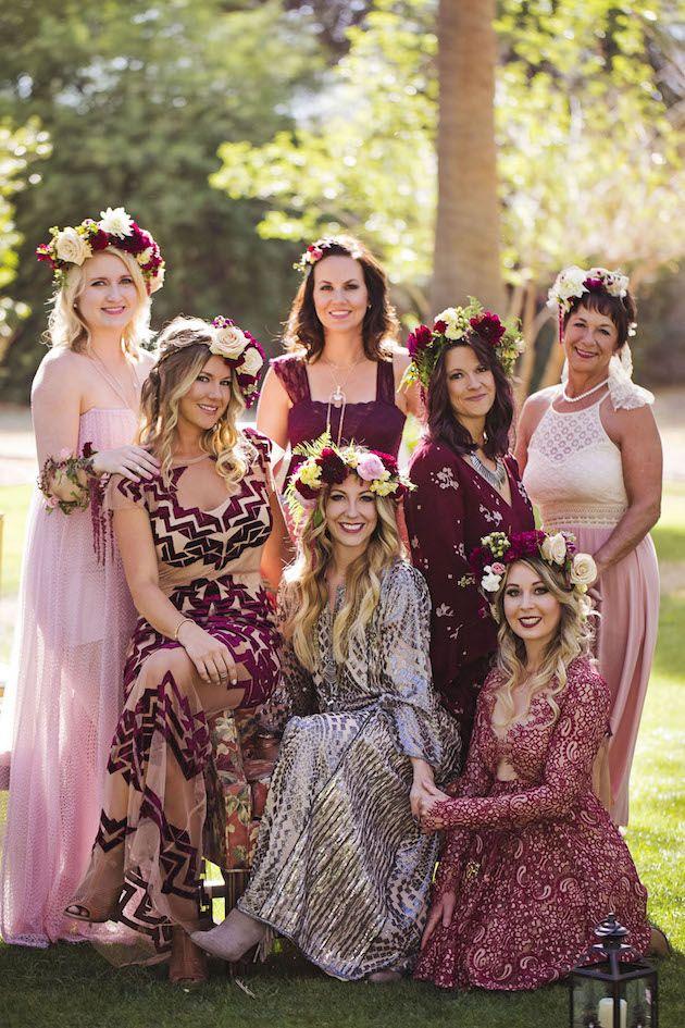 Bohemian Wedding Party Dresses