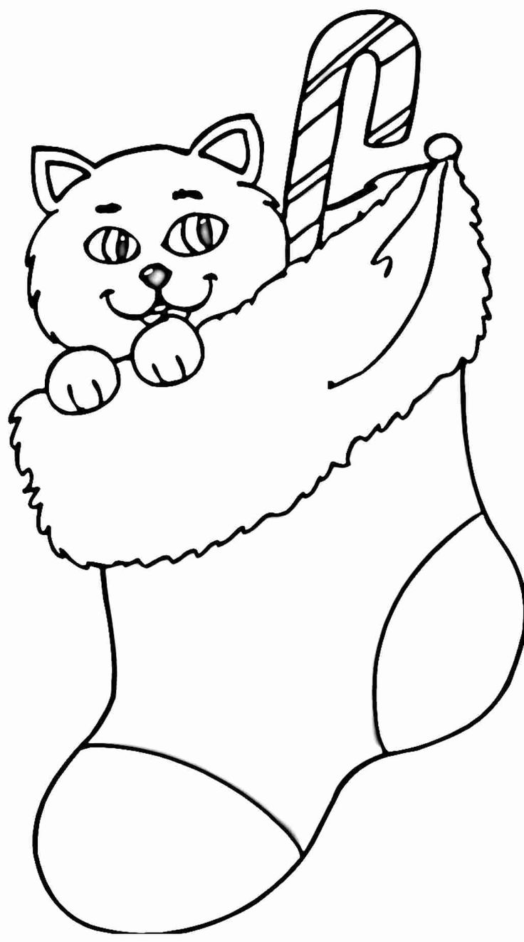 34++ Christmas stocking coloring pages free ideas in 2021