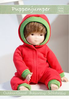 Freebook Puppenjumper, Puppengröße 30-50, Schlafanzug, Schneeanzug, Overall für die Puppe