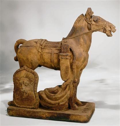 Cavalry Horse Outdoor Garden Statue LO-3057