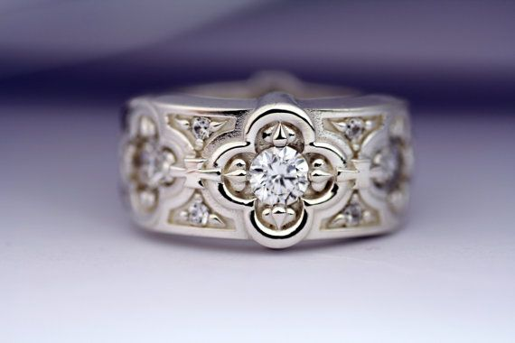 Renaissance Weeding Band Sterling Silver by AddingtonKarpathia, $185.00