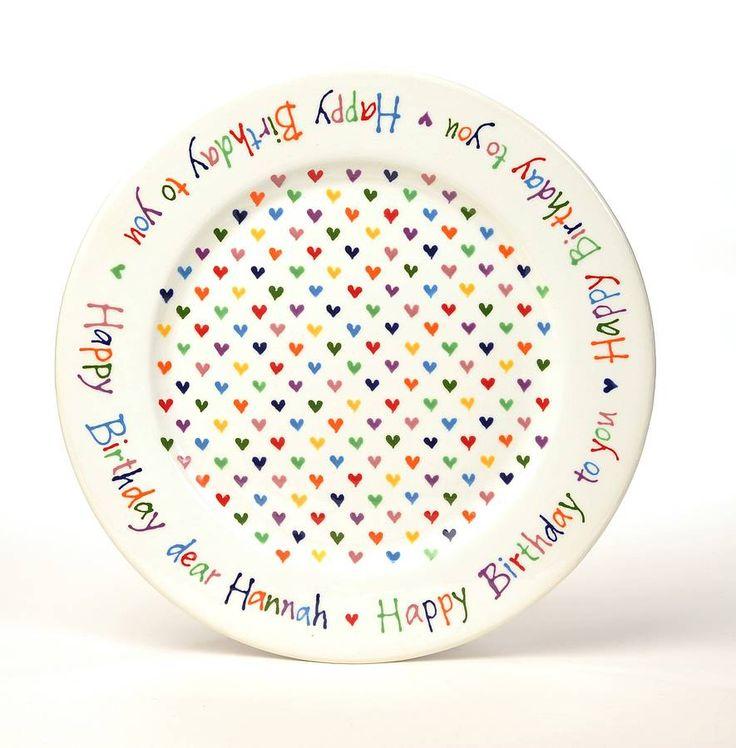 Personalised Love Heart Happy Birthday Plate · Ceramic PlatesPainted PlatesBirthday CraftsBirthday ...  sc 1 st  Pinterest & 64 best Ceramic Plates images on Pinterest | Mandalas Painted ...