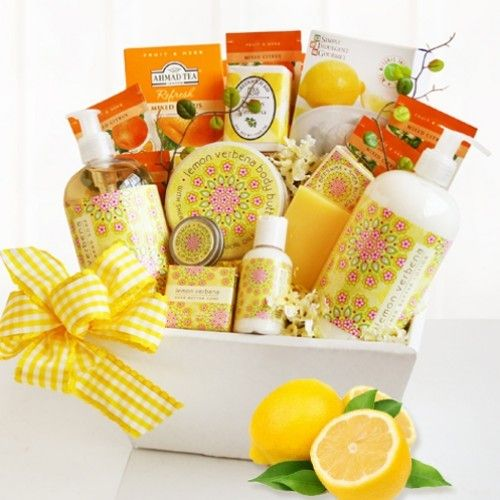 23 best gifts for her images on pinterest spa basket spa gift citrus classic spa gift basket negle Choice Image