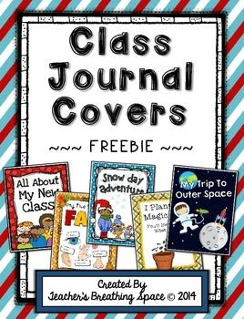 Whole Class Writing Journal Covers Through The Year ***FREEBIE***