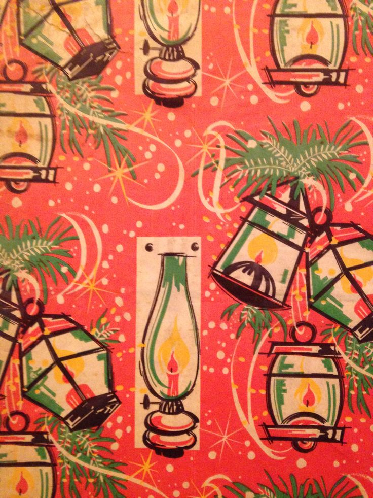 1970s Xmas Wrapping Paper