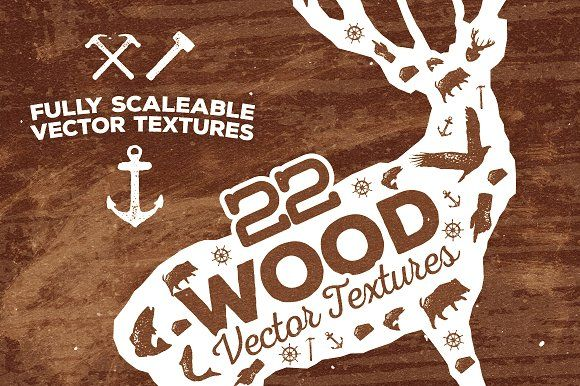 22 Wood Vector Textures by Layerform Design Co. on @creativemarket