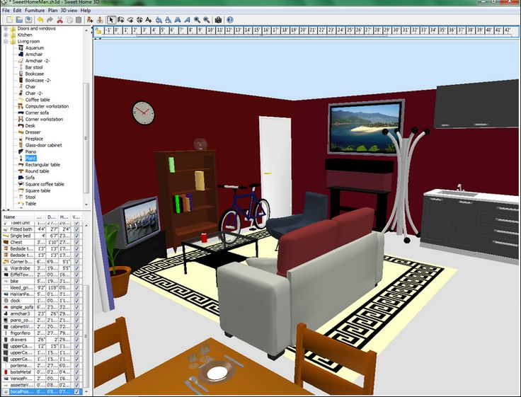 Diy home design software free design ideas for 3d furniture design software free