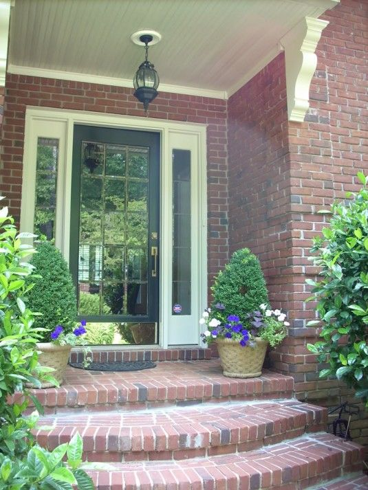 Front Steps Architecture Modern Brick Front Porch Steps