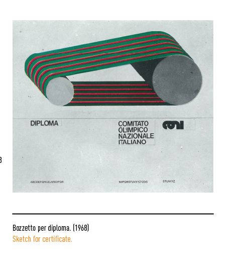 Marchio Coni - Bozzetto per diploma 1968