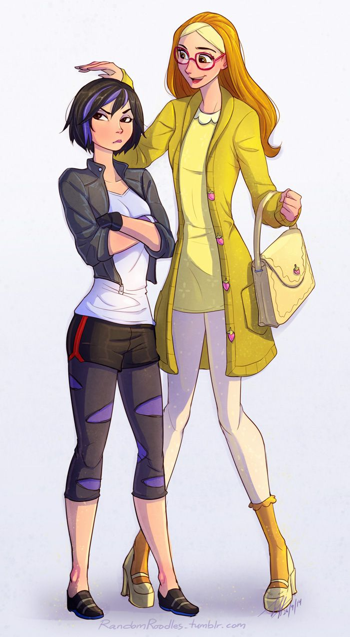 Honey Lemon and Gogo Tomago Basically me around my friends... (I would be Tomago)