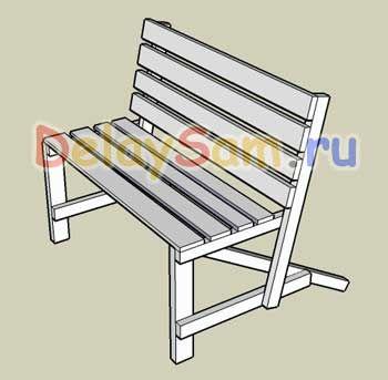 Простая садовая скамейка (лавочка). Как сделать садовую деревянную лавку. Самодельная садовая мебель