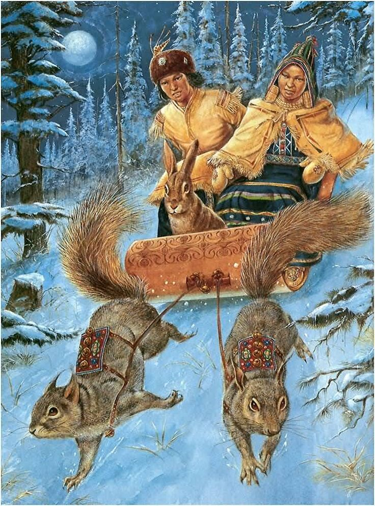 Saved by A Rabbit and Squirrels - Myth from the Passamaquoddy Tribe...