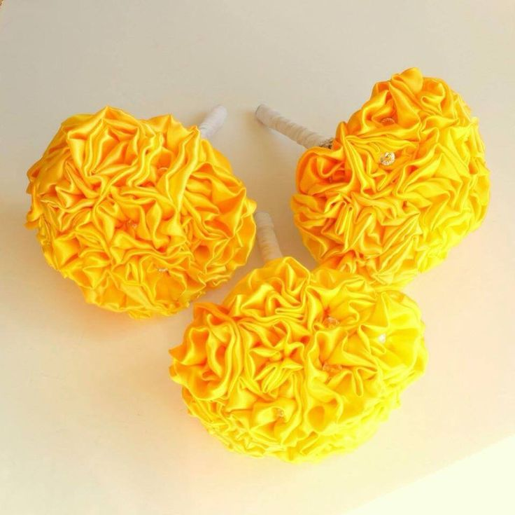 Yellow Fabric Bouquet by Florio Designs