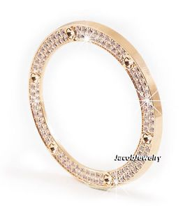 S-Steel-Bezel-Ring-Insert-Setting-034-Diamond-034-Zircon-2-Lines-HB-Big-Bang-44mm
