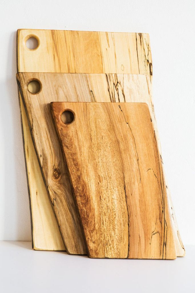 """peterman wood 18"""" cherry bowpeterman spalted maple cutting boards – Lost & Found"""