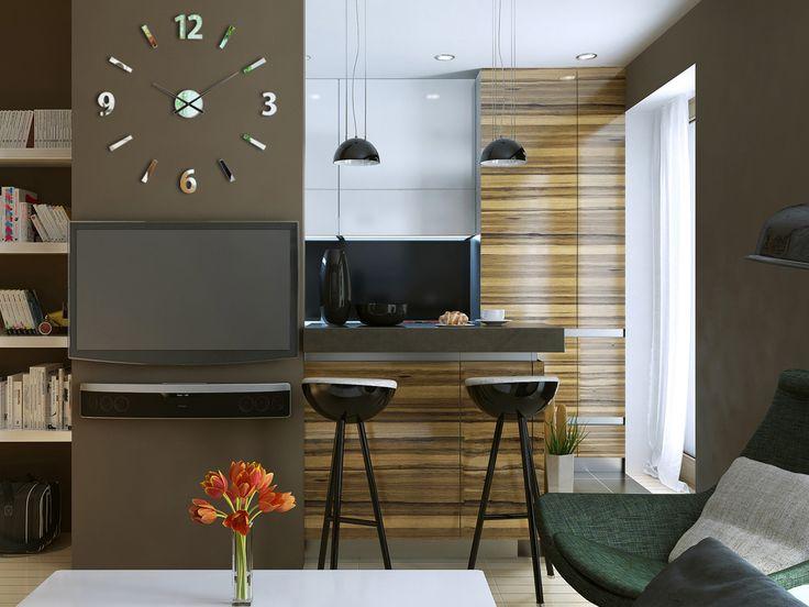 Die Besten 25+ Spiegel Wanduhr Ideen Auf Pinterest DIY Wanduhren   Wanduhren  Wohnzimmer Modern