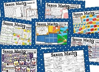 Saxon 3(3rdGrade)Lesson21-30 extension activities, morning papers& exit tickets
