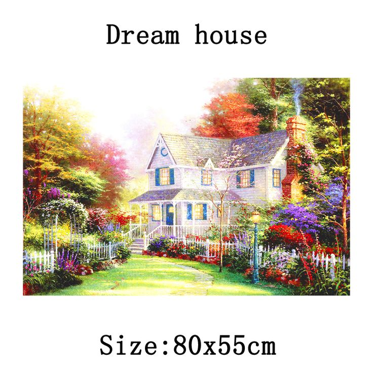 Find More Diamond Painting Cross Stitch Information about 2016 NEW!!! 5D DIY diamond Painting Diamond Embroidery Cross Stitch Dream House Round Painting Home Decoration 80x55cm Wholesale,High Quality decorate home games,China home decor sliding doors Suppliers, Cheap home stretcher from Fashion&House on Aliexpress.com
