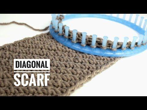Como Tear Knit um Lenço Infinito Diagonal (Tutorial DIY) - YouTube