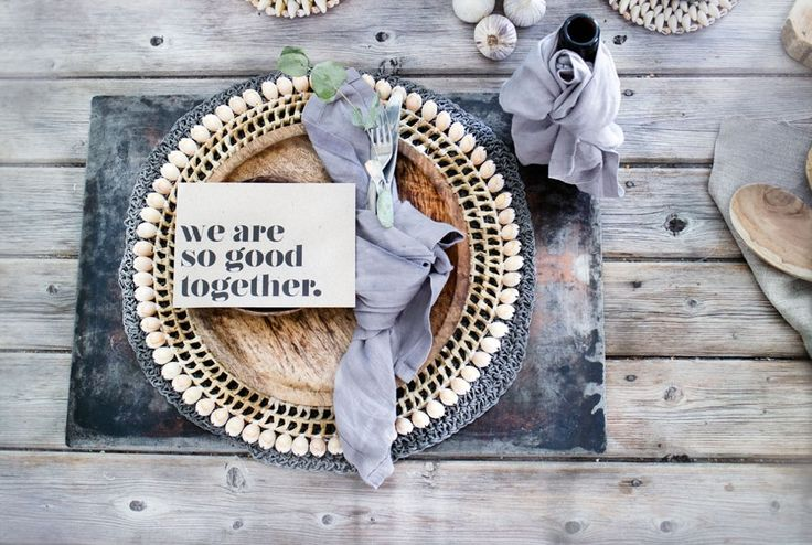 Diy table decoration Nordic Industrial Rustic from http://www.klisjehjemmet.no   #nordic #interior #interiordesign #table #rustic #industrial #diy