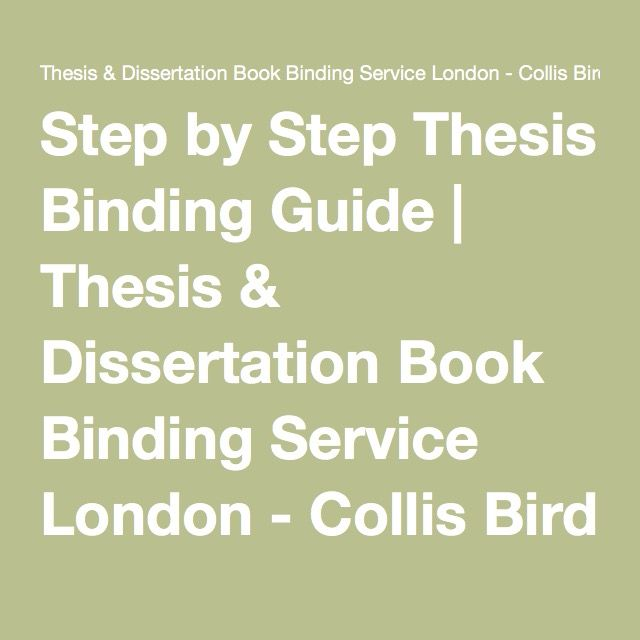 Step by Step Thesis Binding Guide | Thesis & Dissertation Book Binding Service London - Collis Bird & Withey - Bookbinders