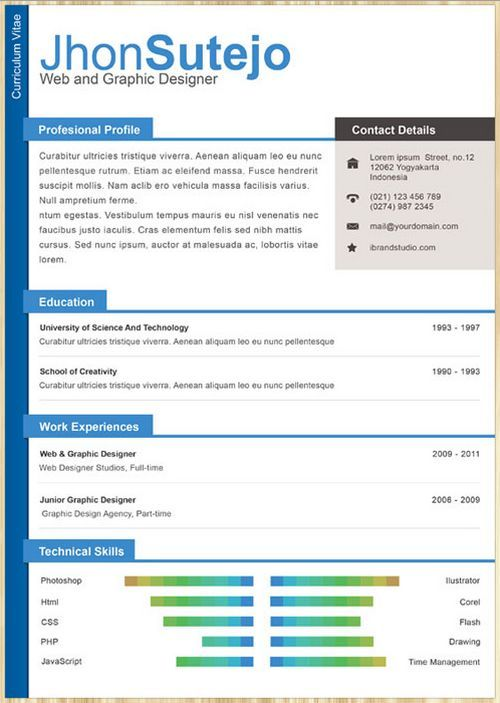 cv templates 6 amazing collection of free cvresume templates - One Page Resume Template Free