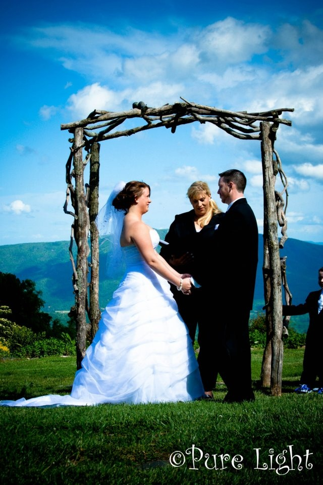 do you invite officiant to wedding reception%0A Little Switzerland Inn Switzerland  NC is a beautiful place to host your  wedding us Danielle M Baker Wedding Officiant  u     Minister