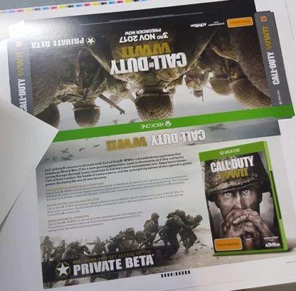 call of duty ww2 advertisement leak