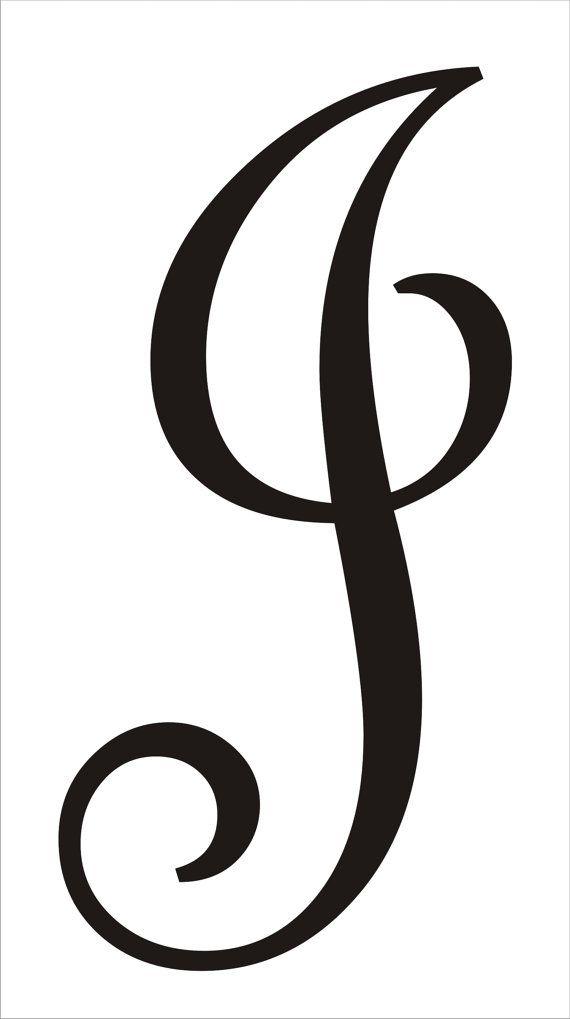 Stencils custom monogram stencil large 15quot tall 1 letter for Large monogram letter stencil