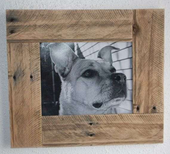 Reclaimed Wood Rustic Pallet Picture Frame by WornOutWood on Etsy, $45.00 DIY + pallet = easy!