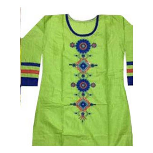 Shop Green Embroidered Cotton Semi-stitched Kurti by R V Creation online. Largest collection of Latest Kurtis and Tunics online. ✻ 100% Genuine Products ✻ Easy Returns ✻ Timely Delivery