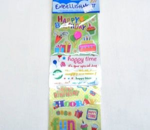 Happy Birthday Sticker Embellishments on sale for R47.50  | Paradise Creative Crafts